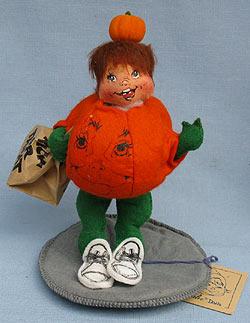 """Annalee 7"""" Pumpkin Kid - Excellent - 303191yeaha"""