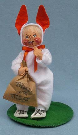 """Annalee 7"""" Trick or Treat Bunny Kid - Mint / Near Mint - 303288"""