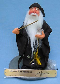"Annalee 10"" Merlin the Magician with Plaque - Mint - 304289"