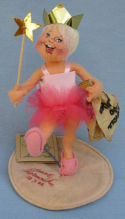 """Annalee 7"""" Trick or Treat Ballerina Kid with Gold Crown - Mint - 305292gs"""