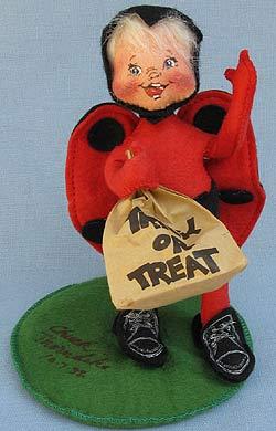 "Annalee 7"" Ladybug Kid - Near Mint - Signed - 305692s"