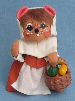 """Annalee 6"""" Pilgrim Girl Mouse - Mint - 307606"""
