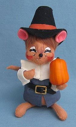 """Annalee 6"""" Pilgrim Boy Mouse - Mint - 307706"""