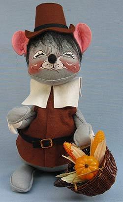 "Annalee 12"" Brown Pilgrim Boy Mouse - Mint - 3080856xx"