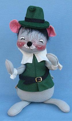 "Annalee 12"" Green Pilgrim Boy Mouse - Very Good - 308091xxa"