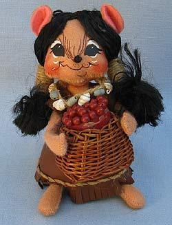 """Annalee 6"""" Indian Girl Mouse - Near Mint - 308506bew"""