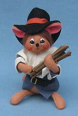 "Annalee 4"" Pilgrim Boy Mouse - Mint - 309406"