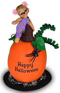 "Annalee 3"" Happy Halloween Mouse on Pumpkin 2020 - Mint - 310120"