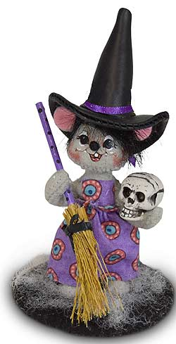 "Annalee 3"" Witch Mouse with Skull 2020 - Mint - 310420"