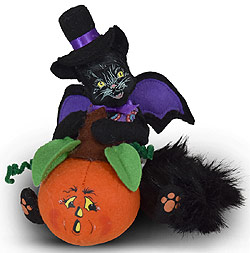 "Annalee 4"" Bat Cat with Pumpkin 2020 - Mint - 310520"