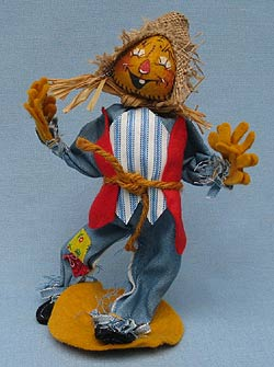 "Annalee 10"" Scarecrow - One Tooth - Mint - Signed - 310583s"