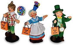 "Annalee Set of 3 Wizard of Oz 5"" Munchkins - 2020 - Mint - 3106-3107-310820"
