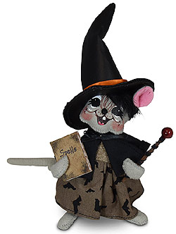 "Annalee 6"" Batty Witch Mouse with Book of Spells 2020 - Mint - 311220"