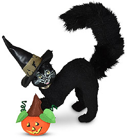 "Annalee 6"" Scaredy Cat with Pumpkin 2020 - Mint - 311320"