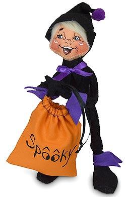 "Annalee 9"" Spooky Elf Holding Sack 2020 - Mint - 311520"