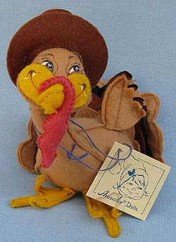 "Annalee 8"" Boy Turkey - Near Mint - 316090"