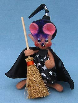 """Annalee 4"""" Witch Mouse with Purple Hair - Mint / Near Mint - 322506"""