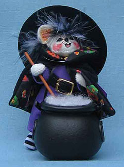 "Annalee 4"" Witch Mouse in Gift Bag - Mint - 322805"