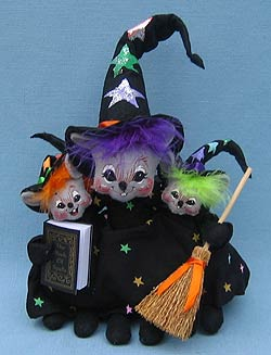 "Annalee 7"" Bunch of Triple Trouble Witch Mice - Mint - 323906"