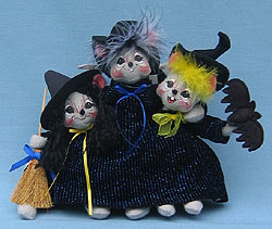 "Annalee 10"" Triple Trouble Bunch of Witch Mice - Mint - 325705 (CLONE)"