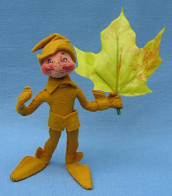 "Annalee 5"" Gold Fall Elf with Leaf - Mint - 329994"