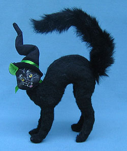 """Annalee 8"""" Scared Cat - Mint - 330704"""