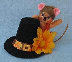 """Annalee 3"""" Pilgrim Hat Mouse 2017 - Mint - 350217"""