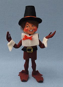 """Annalee 9"""" Pilgrim Boy Elf - Mint - 350809"""