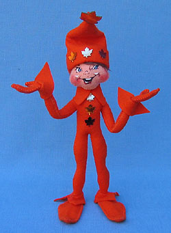 "Annalee 9"" Orange Fall Elf - Mint - 350908"