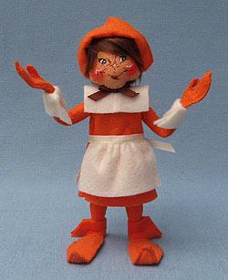 "Annalee 9"" Pilgrim Girl Elf - Mint - 350909"