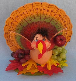 "Annalee 8"" Bountiful Turkey 2014 - Mint - 351214"