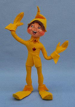 "Annalee 12"" Yellow Fall Elf - Mint - 351409"
