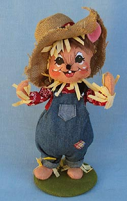 """Annalee 9"""" Scarecrow Mouse - Mint - 351512"""