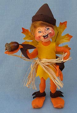 "Annalee 9"" Orange Acorn Fairy Elf 2013 - 351513 - Mint"