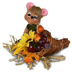 """Annalee 3"""" Harvest Cornucopia Mouse 2020 - Mint - 360120"""