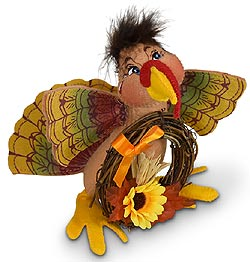 "Annalee 5"" Turkey with Wreath 2020 - Mint - 360620"