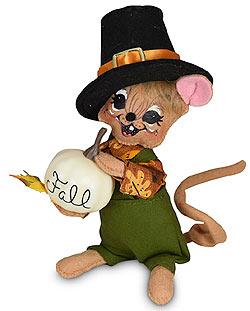 """Annalee 6"""" Pilgrim Boy Mouse 2020 - Mint - 361120"""