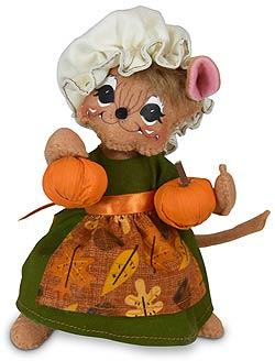 """Annalee 6"""" Pilgrim Girl Mouse 2020 - Mint - 361220"""