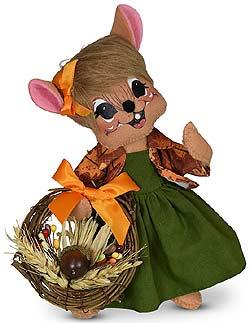 "Annalee 8"" Autumn Wreath Mouse 2020 - Mint - 361620"