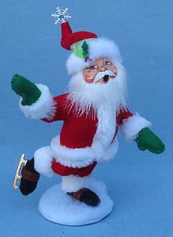 """Annalee 6"""" Snowflake Skating Santa - Mint - 400012"""