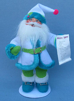"Annalee 9"" Winter Whimsy Santa - Mint - 400712"