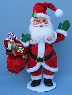 "Annalee 15"" Cozy Christmas Santa - Mint - 400812"