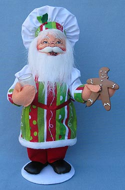 "Annalee 15"" Gingerbread Cookie Chef Santa - Mint - 401012"