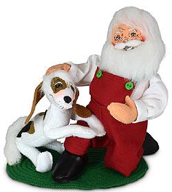 """Annalee 9"""" Santa & His Best Friend Puppy Dog 2021 - Mint - 410221"""