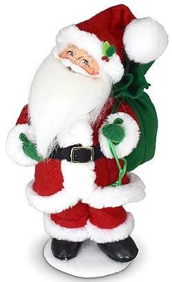 """Annalee 9"""" Holiday Cheer Santa 2021 - Mint - 410421"""