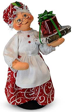 "Annalee 13"" Christmas Swirl Mrs Santa with Gifts 2019 - Mint - 410519"