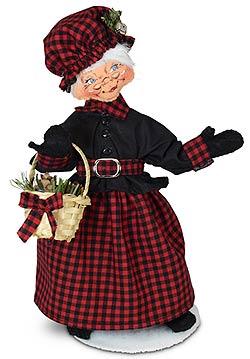 "Annalee 9"" Winter Woods Mrs Santa 2021* - Mint - 410721"