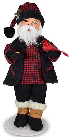 """Annalee 15"""" Winter Woods Santa with Cardinal 2021* - Mint - 411121"""