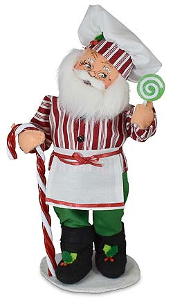 """Annalee 9"""" Christmas Candy Santa with Lollipop 2021 - Mint - 411221"""