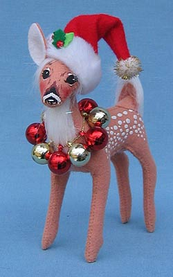 "Annalee 5"" Fawn with Ornament Wreath - Mint - 450008"